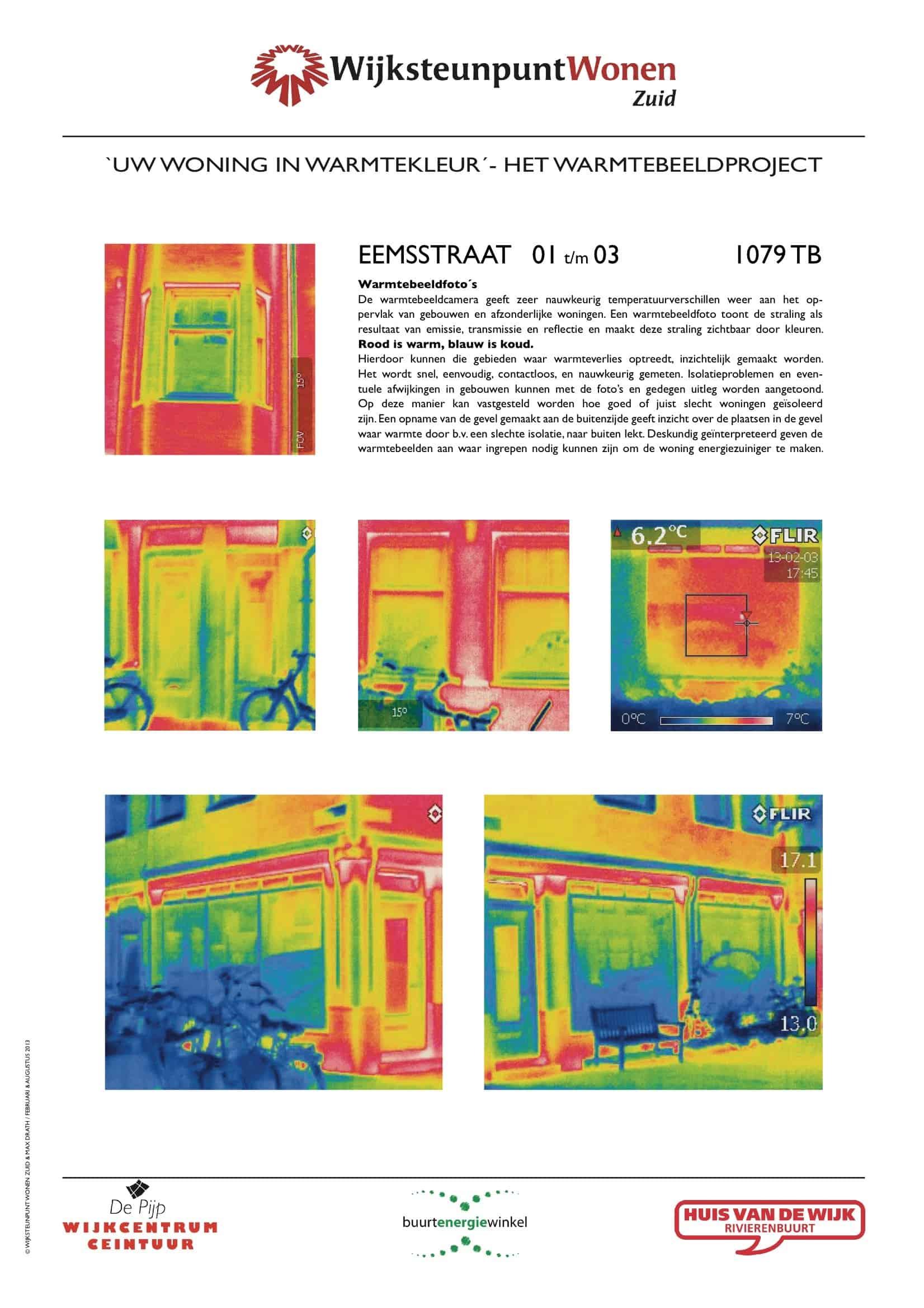 Het warmtebeeldproject Eemsstraat