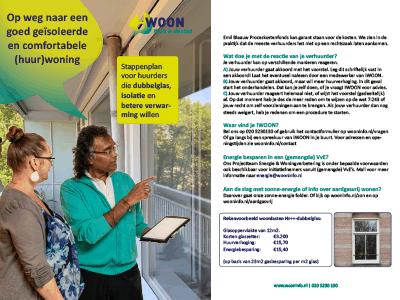 Foto bij onze folder met een stappenplan om uw woning te verbeteren