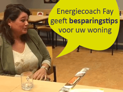 Dit is energiecoach Fay, vrijwilliger